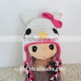 Cute Fashion Knit Kids cartoon Hats Baby Crochet Hats cat crochet baby cotton beanie hat