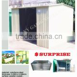 pure style design garden tool shed outdoor hot saling galvanized colorbone shed best looking cheapest price