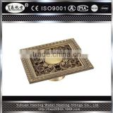 High Quality Art Carved bathroom floor drain cover antique waste water shower floor drain grating