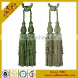 Curtains designs rayon material acrylic bead bullion fringe curtain tassel tieback decoration for home