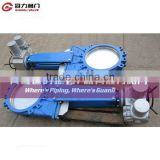 Cast Iron Knife Gate Valve with Electric Actuator
