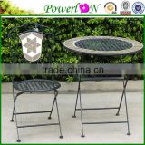 Sale Vintage Folding Antique Round Classical Mosaic Table Garden Furniture For Outdoor J15M TS05 X00 PL08-6232CP
