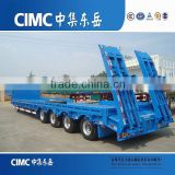 CIMC Lowboy Trailers/ Low Loader Trailers For Sale/Excavator Transportation Semi Trailer
