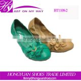 China cheap lady PU ballet flat shoes dancing shoes comfortable flat shoes                                                                         Quality Choice