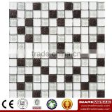 IMARK Electroplated Color Glass Mix Ceramic Mosaic Tiles (IXGC8-094) for back splash mosaic wall art