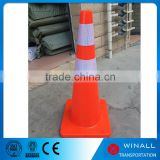 45cm thailand pvc road delineator post warning cone