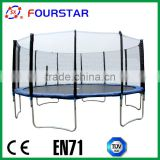 Fourstar 16FTtrampoline , gymnastic fitness bungee trampoline ,Castco commercial trampoline with tent and ladder cheap price