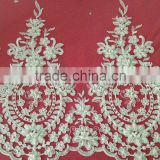 Bead Embroidery Lace Trims For Bridal Dress