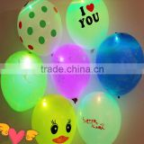colorful helium led latex balloons glow in the night for for party