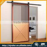 New European Modern Residential Stainless Steel Wood Sliding Barn Door Hardware Kit Roller