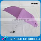 gift clear cute purple 2 fold manual open advertising umbrella for promotion/purple umbrella