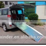 2015 hot sale BMWR Manual Wheelchair Ramp for Van Loading 350kg with CE certificate