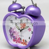 Cute Designs of Twin Bell alarm clock/Metal Cartoon double bell desk & table clocks