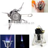 New Outdoor travel portable Camping Equipment Gas Stove cooking Burner Picnic Furnace cooker windproof cookware QB011-SZ