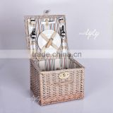 bulk picnic baskets wicker material for 2persons