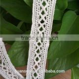 Cheap Embroidery Trimmings 100% Cotton Lace for Dresses/Curtains