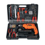 HOT SALES POWER TOOL SET FOR HOUSEHOLD TOOL TYPE IMPACT DRILL SET WITH 102PCS TOOL KITS FROM CHINA