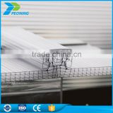 Best safety retractable 16mm Polycarbonate Locking System Roofing Solution Sheet