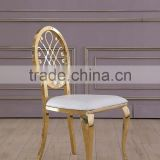 Rose gold flower shaped chair wedding chair