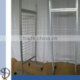 Retail adjustable hook wire mesh free standing display