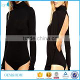Women's Sexy Backless Long Sleeve Bodycon Black Bodysuit Tops Playsuit