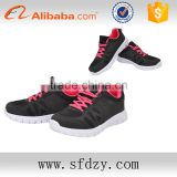 Fashion PU+Mesh black running sport shoes men footwear boys shoe