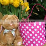 Wholesale monogrammed Easter bucket Easter basket Easter Burlap Bunny Basket picnic basket 2016 spring easter bag