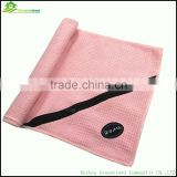 China alibaba waffle plain soft zip pocket custom gym towels golf towel with pocket microfiber towels wholesale