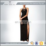 2016 New Black Color Chiffon Long Casual Evening Dresses Wear/Xscape Sleeveless Jewel-Trim Racer back Gown Prom Maxi Dress