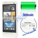 3000mAh charger case for HTC One Power Bank with Folding Holder