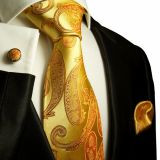Ivory Extra Long Mens Jacquard Neckties Adjustable Self-fabric