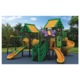 HLB-7073B Kids Plastic Swing and Slide Set Children Playground Outdoor