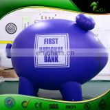 Custom Blue Inflatable Parade Bush Hog, Inflatable Animal with SPH, Inflatable Pig for Promotion
