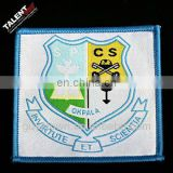 custom uniform logo woven badge for school