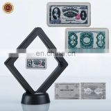 WR Luxury Home Decor Year 1891 USD 1 Challenge Silver Bar US Banknote Commemorative Bars with Display Case for Collection
