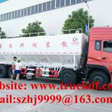 biggest volume of dongfeng tianlong 8*4 LHD 40cbm poultry feed transporting truck for sale