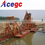 River sand gold bucket chain dredge for sale