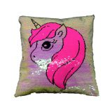 Sequins unicorn pillow and cushion