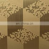 Color Embossed Checkered Decorative Stainless Steel Plate / Stainless Steel Decorative Sheet