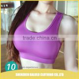 Competitive price China manufacturer yoga sports women sexy nude bra