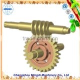 Pinion Brass Worm Gear Alloy Wheel Screw Shaft For 3d Printer