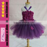 Top Fashion Beautiful Purple Wedding Dress Kids Party Wear Dresses                                                                         Quality Choice