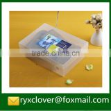 Customized made shoe packaging boxes with clear PVC/PP plastic