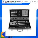premium high end bbq tool set with case/bbq grill tool set