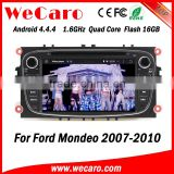 Wecaro WC-FU7608 Android 4.4.4 radio 1024*600 car dvd player for ford mondeo can bus 2007 - 2010 USB SD