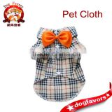 Fashion Casual Dog Plaid Shirt Gentle Dog Western Shirt Dog Clothes Dog Shirt + Bow Free Shipping,Yellow,M: Pet Supplies