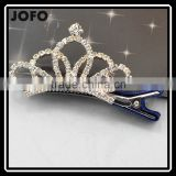 Women Girls Bridal Wedding Crystal Crown Hair Clip Apparel Accessories Headwear Hair Pin