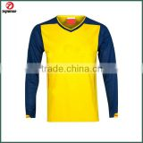 Top brand 100% polyester sublimation OEM service no logo soccer jersey long sleeve