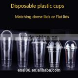 Clear PET plastic cold cup for water/milk