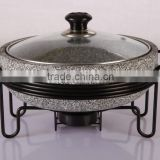 Granite stone steam cooker pot with frame stone cookware